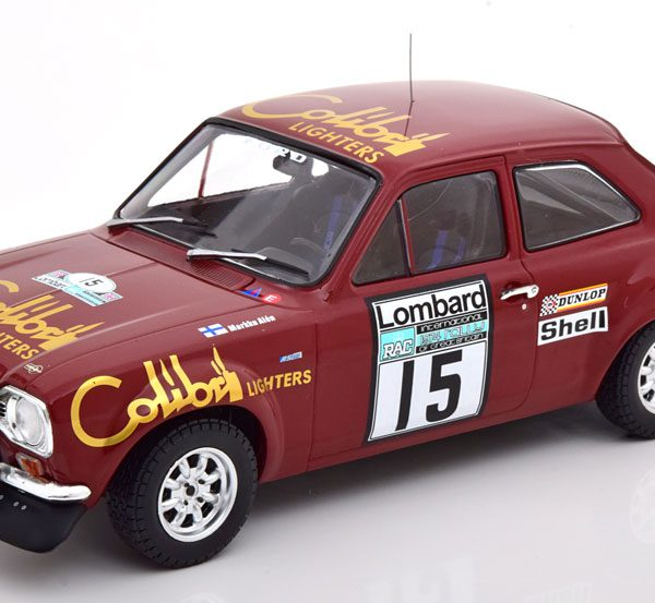 Ford Escort MK1 RS 1600 No.15, RAC Rally 1974 Alen/White 1-18 Ixo Models