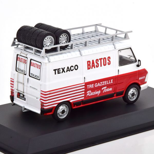 "Fiat 242 Rally Assistance 1980 ""Bastos"" Rood / Wit 1-43 Ixo Models"