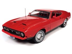 Ford Mustang Mach 1 1971 Rood James Bond 007 (Diamonds Are Forever) 1:18 Ertl/Autoworld