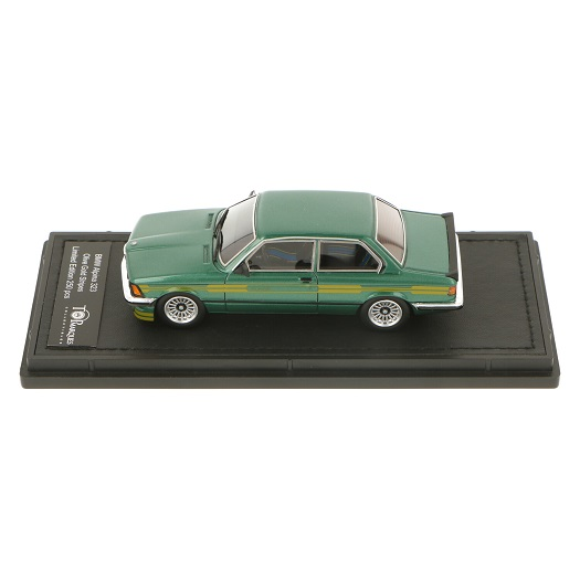 BMW 323 Alpina ( E21 ) 1983 Olive Green & Gold Stripes 1-43 Top Marques Limited 250 Pieces ( Resin )