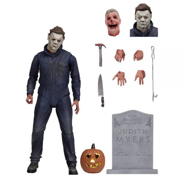 Halloween Ultimate Michael Myers Including Light Up Flickering Pumpkin 7 Inch / 17 cm Neca