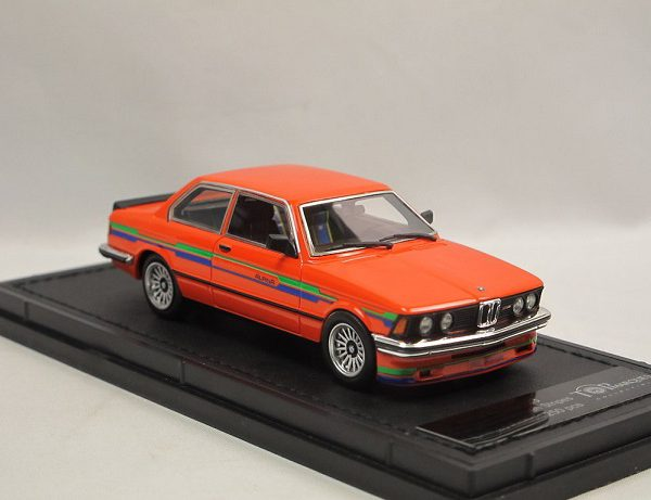 BMW 323 Alpina ( E21 ) Orange Blue & Green Stripes 1-43 Top Marques Limited 250 Pieces ( Resin )