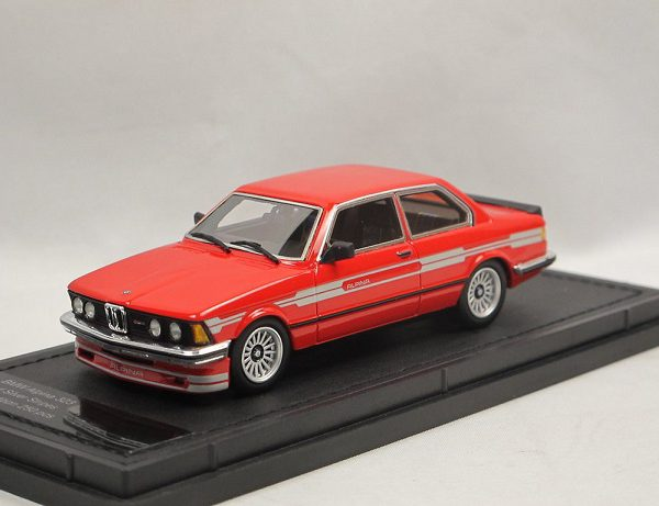 BMW 323 Alpina ( E21 ) 1983 Red & Silver Stripes 1-43 Top Marques Limited 250 Pieces ( Resin )