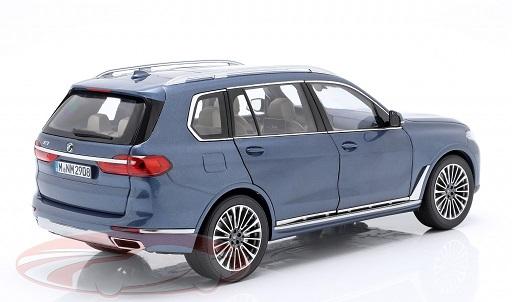 BMW X7 (G07) 2019 Blauw Metallic 1:18 Norev ( Dealer )