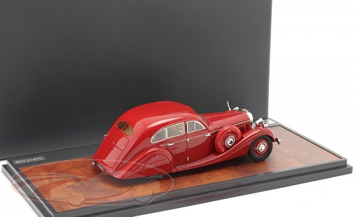 Bentley 4,5 Litre Gurney-Nutting Airflow Saloon #B118HK 1936 Rood 1-43 Matrix Scale Models Limited 408 pcs.