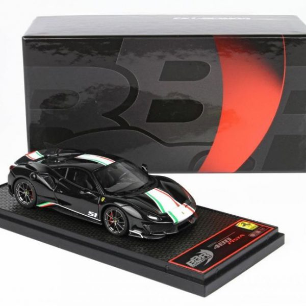 Ferrari 488 Pista Piloti Ferrari New Black Daytona 1-43 BBR Models Limited 60 Pieces