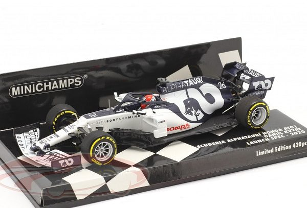 Alpha Tauri Racing AT01 #26 Launch Spec. F1 2020 Daniil Kvyat 1:43 Minichamps Limited 420 Pieces