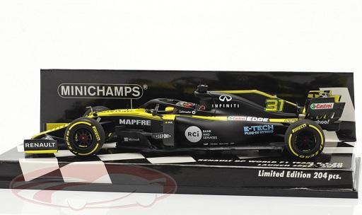 Renault R.S.20 #31 Renault DP World F1 Team Launch Spec F1 2020 Esteban Ocon 1:43 Minichamps Limited 204 Pieces