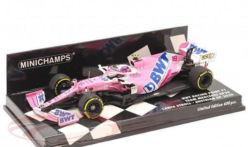 Lance Stroll F1 BWT Racing Point RP20 #18 Oostenrijks GP 2020 1:43 Minichamps Limited 600 Pieces