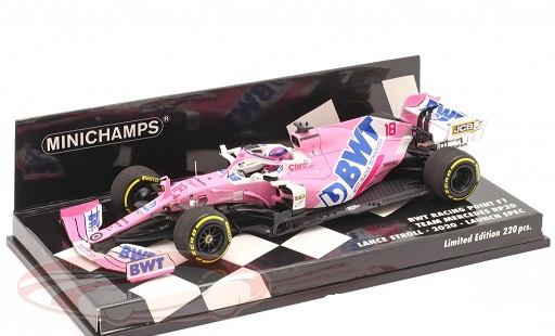 BWT Racing Point Team Mercedes RP20 #18 Launch Spec F1 2020 Lance Stroll 1:43 Minichamps Limited 220 Pieces