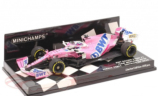 Sergio Perez F1 BWT Racing Point RP20 #11 Oostenrijks GP 2020 1:43 Minichamps Limited 850 Pieces