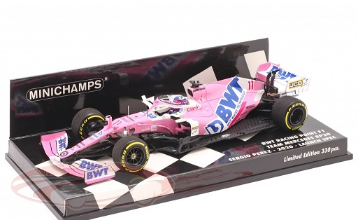 BWT Racing Point RP20 #11 Launch Spec F1 2020 Sergio Perez 1:43 Minichamps Limited 330 Pieces