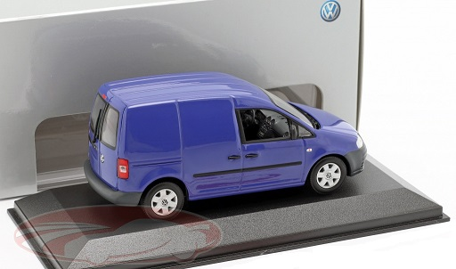 Volkswagen Caddy 2005 Blauw 1-43 Minichamps ( Dealer )