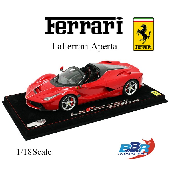 "Ferrari ""LaFerrari"" Aperta 2016 Rosso Corsa / Silver Wheels Nurburgring 1-18 BBR Models Limited 159 Pieces"