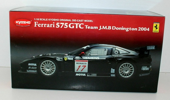 Ferrari 575 GTC #17 Team J.M.B Donington 2004 Zwart 1-18 Kyosho