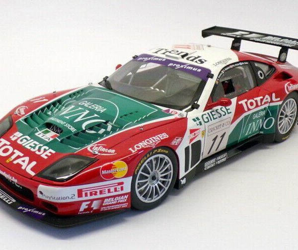 Ferrari 575 GTC #11 Team G.P.C Spa-Francorchamps 2004 Rood/Wit /Groen 1-18 Kyosho
