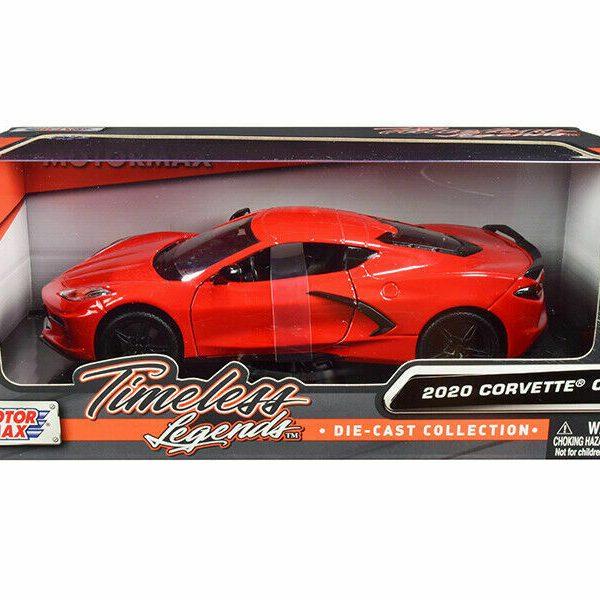 Chevrolet Corvette C8 2020 Rood 1-24 Motormax