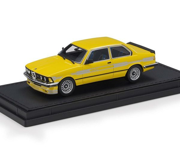 BMW 323 Alpina ( E21 ) 1983 Yellow & Gold Stripes 1-43 Top Marques Limited 250 Pieces ( Resin )