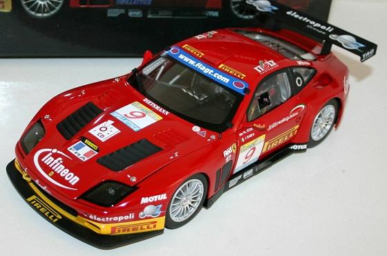 Ferrari 575 GTC Team #9 J.M.B Estoril 2003 Red 1-18 Kyosho