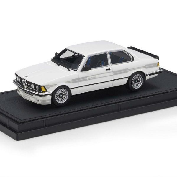 BMW 323 Alpina ( E21 ) 1983 White & Silver Stripes 1-43 Top Marques Limited 250 Pieces ( Resin )