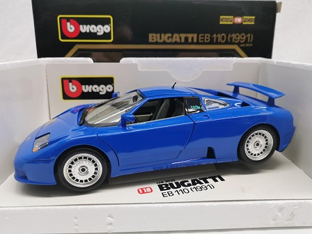 Bugatti EB110 1991 Blauw 1-18 Burago
