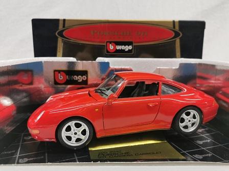 Porsche 911 Carrera Coupe 1993 Rood 1-18 Burago
