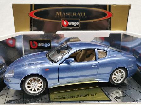 Maserati 3200 GT 1998 Blauw Metallic 1-18 Burago