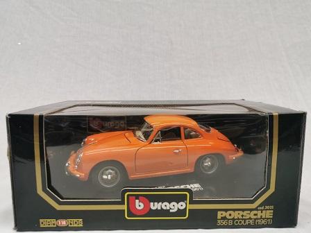 Porsche 356B Coupe 1961 Oranje 1-18 Burago