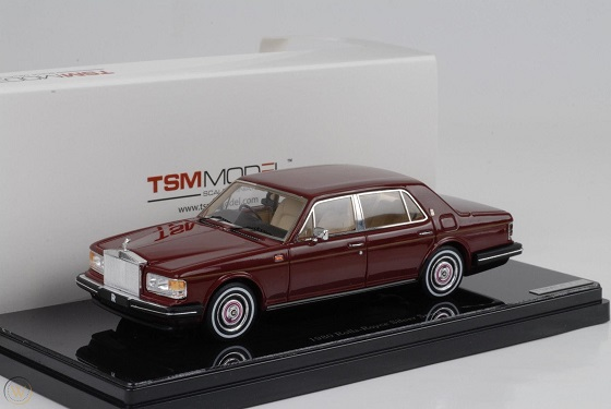 Rolls-Royce Silver Spirit 1980 Bordeaux Rood 1-43 True Scale Miniatures