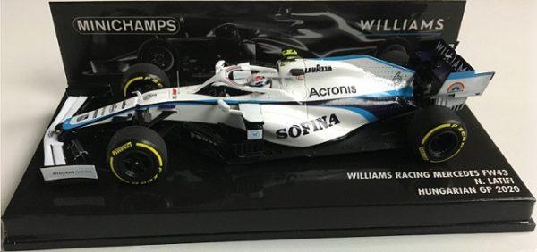 Williams Racing Mercedes FW43 Hungarian GP 2020 N.Latifi 1-43 Minichamps