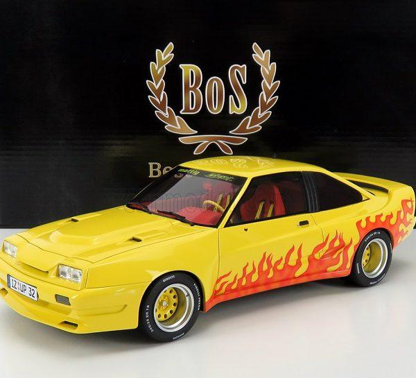 Opel Manta B Mattig 1991 Geel / Rood 1-18 BOS Models Limited 504 Pieces