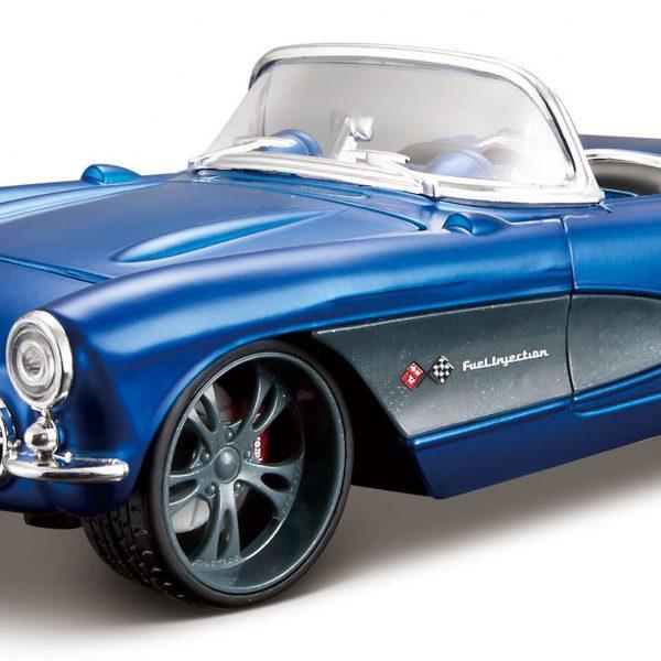 Chevrolet Corvette 1957 Blauw 1-24 Maisto Custom Shop