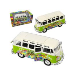 "Volkswagen Van Samba ""Hippie Line"" Groen 1-25 Maisto"