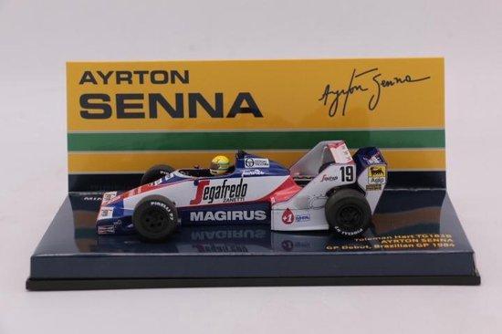 Toleman Hart TG183B Brazilian GP 1984 Ayrton Senna 1:43 Minichamps