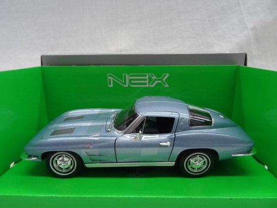 "Chevrolet Corvette 1963 ""Split Window "" Blauw Metallic 1-24 Welly"