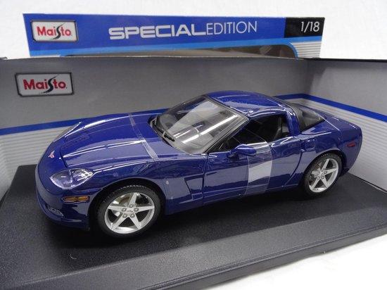 Chevrolet Corvette C6 Coupe 2005 Blauw 1-18 Maisto