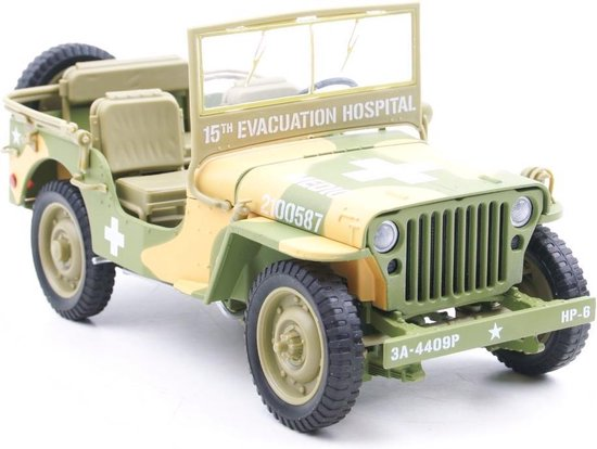 Willys MB Jeep WWII 15th Evacuation Hospital - 1:18 Ertl / Auto World