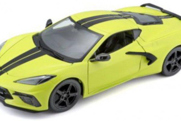Chevrolet Corvette C8 Stingray Coupe Z51 2020 Limoen Groen / Zwart 1-24 Maisto