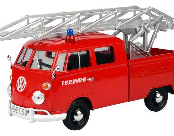 """Volkswagen T1 Type 2 Pick up Brandweer 1950 """"Ladder"""" Rood 1-24 Motormax"""