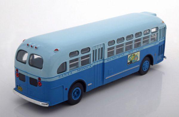 """General Motors TDH 3714 """"Rosa Parks"""" Santa Monica Municipal1955 Blauw 1-43 Ixo Models"""
