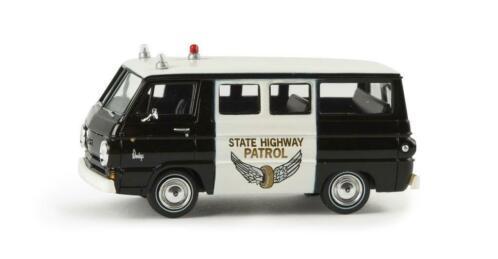 Dodge A 100 State Highway Patrol 1-87 Zwart/Wit Brekina