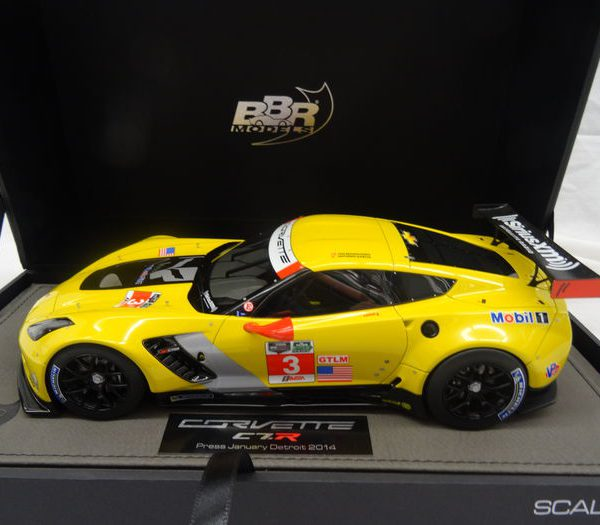 Chevrolet Corvette C7-R #3 Detroit 2014 Press Version 1-18 BBR Models Limited 100 Pieces