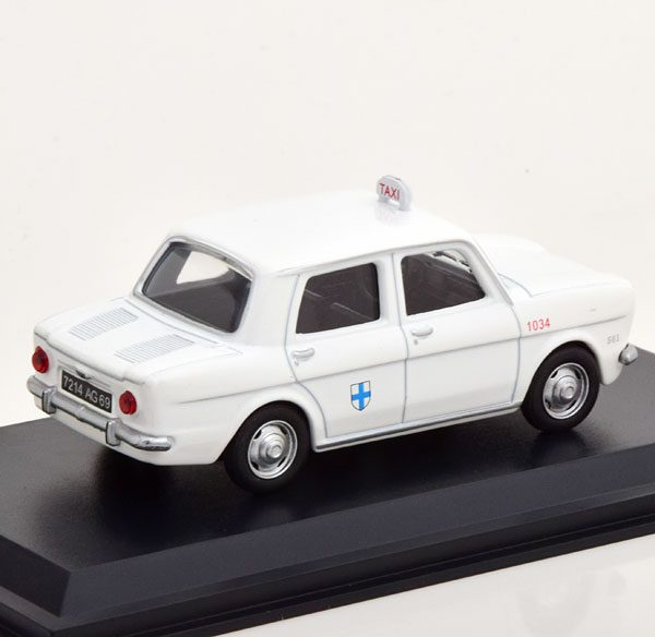 """Simca 1000 """"Taxi Marseille"""" 1962 Wit 1-43 Altaya Taxi Collection"""