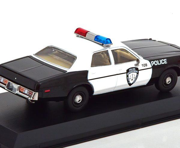 "Dodge Monaco 1977 ""Police"" Zwart / Wit 1-43 Greenlight Collectibles"