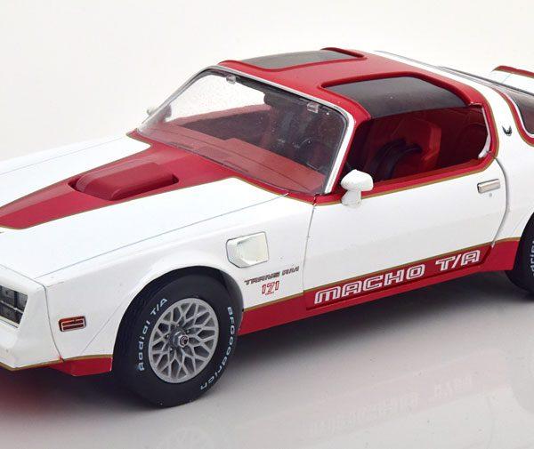 "Pontiac Firebird T/A 1978 ""Macho"" Wit / Rood 1-18 Greenlight Collectibles"