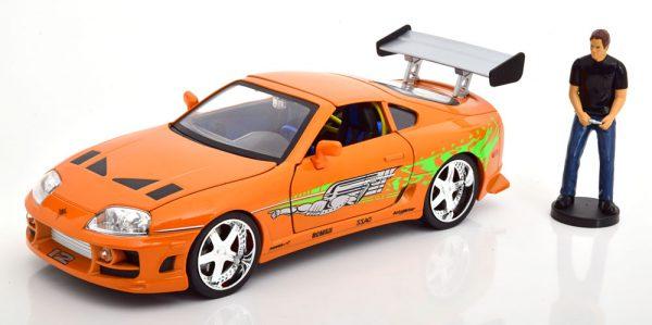 "Toyota Supra ""Fast & Furious"" Brian ( Inkl Figuur ) met Led Verlichting 1-18 Jada Toys"