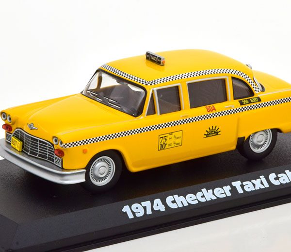 Checker Taxi Cab 1974 ( TV Serie Taxi ) Geel 1-43 Greenlight Collectibles