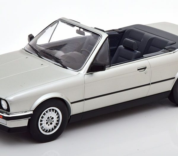 BMW 3er Serie (E30) Cabriolet 1985 Zilver 1-18 MCG Models