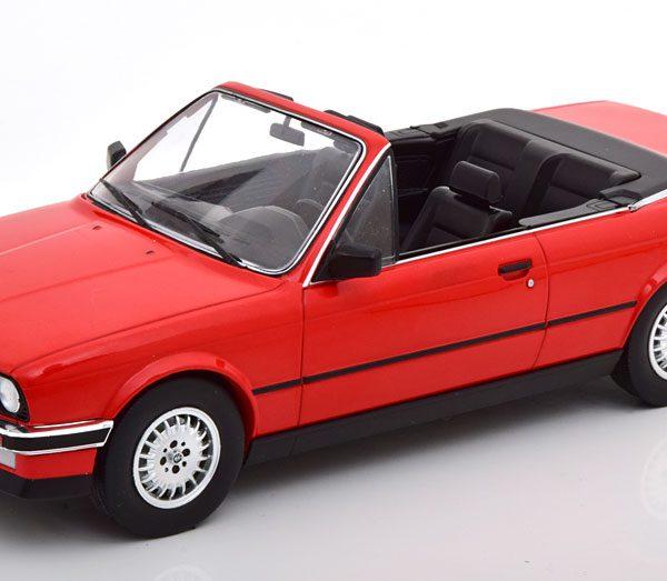 BMW 3er Serie (E30) Cabriolet 1985 Rood 1-18 MCG Models