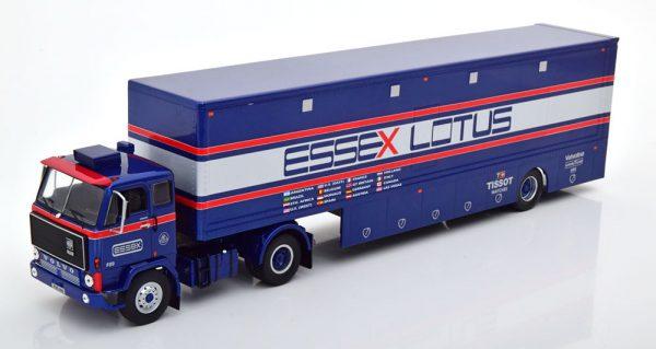 """Volvo F89 Essex """"Lotus Racing Team"""" Blauw / Zilver 1-43 Ixo Models"""